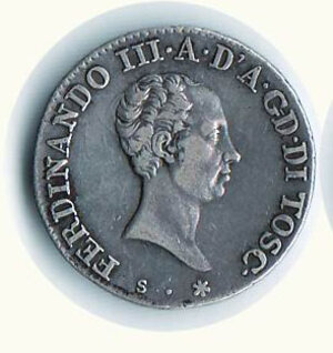 obverse: FIRENZE - Leopoldo III (1791-1801 e 1814 -1824) - Lira 1823.