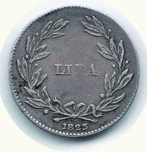 reverse: FIRENZE - Leopoldo III (1791-1801 e 1814 -1824) - Lira 1823.