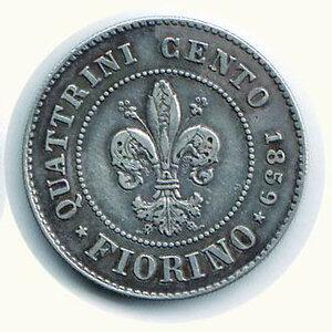 reverse: FIRENZE - Governo provvisorio (1859-1860) - Fiorino 1859.
