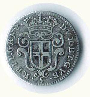 reverse: GENOVA - Dogi biennali - 5 Soldi 1673.