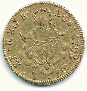 obverse: GENOVA - 96 Lire 1793