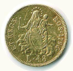obverse: GENOVA - 48 Lire 1796