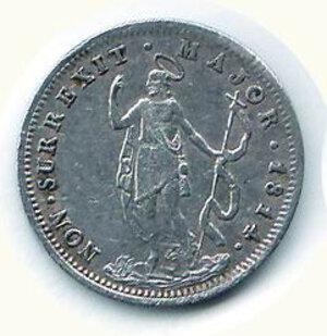 obverse: GENOVA - Rep Genovese (1814-15) - Soldi 10 1814.