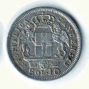 reverse: GENOVA - Rep Genovese (1814-15) - Soldi 10 1814.