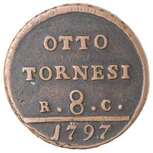 reverse: Napoli. Ferdinando IV. 1759-1799. 8 Tornesi 1797.
