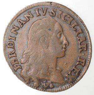 obverse: Napoli. Ferdinando IV. 1759-1799. 1 Grano 12 Cavalli 1790 CC. Ae.