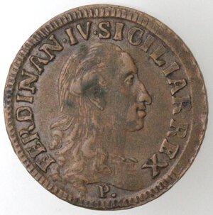 obverse: Napoli. Ferdinando IV. 1759-1799. 1 Grano 12 Cavalli 1793. Ae.