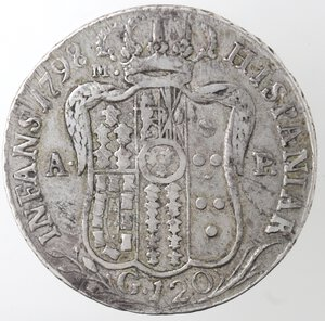 reverse: Napoli. Repubblica Napoletana. 1799. Piastra 1798. D. G punto punto. Ag.