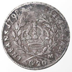 reverse: Napoli. Repubblica Napoletana. 1799. Tarì 1798. punto punto. Ag.
