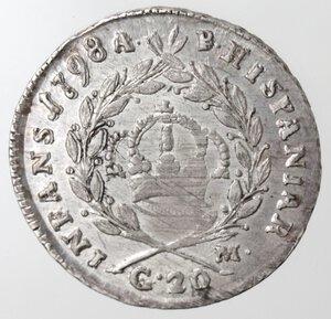 reverse: Napoli. Repubblica Napoletana. 1799. Tarì 1798. ET punto punto. Ag.