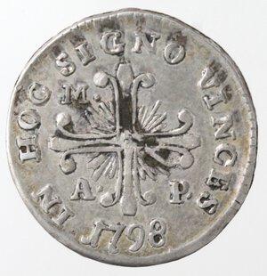 reverse: Napoli. Repubblica Napoletana. 1799. Carlino 1798. SICIL punto punto. Ag.