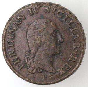 obverse: Napoli. Repubblica Napoletana. 1799. 10 Tornesi 1798. SICILIAR punto punto. Ae.