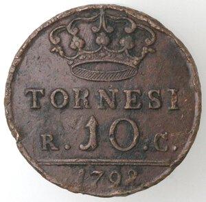reverse: Napoli. Repubblica Napoletana. 1799. 10 Tornesi 1798. SICILIAR punto punto. Ae.