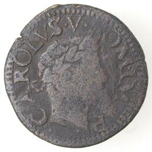 obverse: Napoli. Carlo V. 1516-1554. Tre Cavalli. Senza sigle. Ae.
