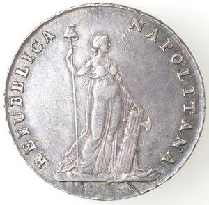 obverse: Napoli. Repubblica Napoletana. 1799. Piastra da 12 Carlini. Ag.