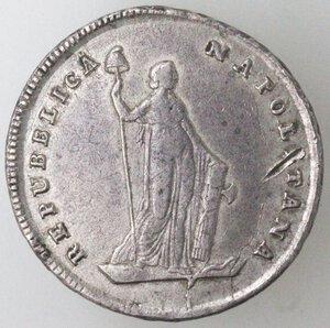 obverse: Napoli. Repubblica Napoletana. 1799. Mezza Piastra da 6 Carlini. Ag.