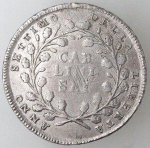 reverse: Napoli. Repubblica Napoletana. 1799. Mezza Piastra da 6 Carlini. Ag.