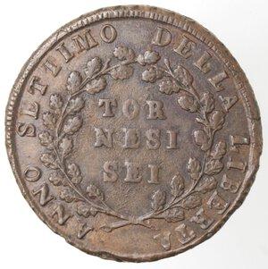 reverse: Napoli. Repubblica Napoletana. 1799. 6 Tornesi. Ae.