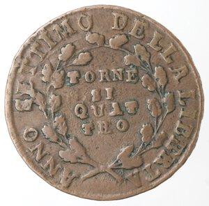 reverse: Napoli. Repubblica Napoletana. 1799. 4 Tornesi. Ae.