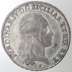 obverse: Napoli. Ferdinando IV. 1799-1803. Piastra 1800. Ag.