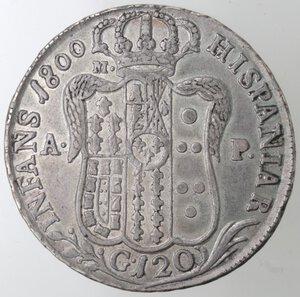 reverse: Napoli. Ferdinando IV. 1799-1803. Piastra 1800. Ag.