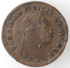 obverse: Napoli. Ferdinando IV. 1799-1803. 6 tornesi 1799 RC. Ae.