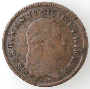 obverse: Napoli. Ferdinando IV. 1799-1803. 6 tornesi 1801 AP. Ae.