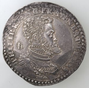 obverse: Napoli. Filippo II. 1554-1556. Ducato. Ag. Da principe.