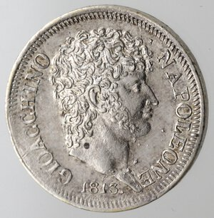 obverse: Napoli. Gioacchino Murat. 1808-1815. Mezza Lira 1813. Ag.