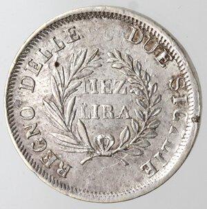 reverse: Napoli. Gioacchino Murat. 1808-1815. Mezza Lira 1813. Ag.