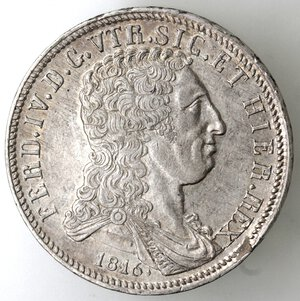obverse: Napoli. Ferdinando IV. 1815-1816. Piastra 1816. Bratte numerose. Ag.