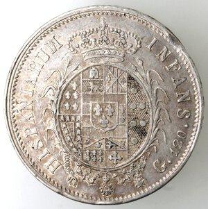 reverse: Napoli. Ferdinando IV. 1815-1816. Piastra 1816. Bratte numerose. Ag.