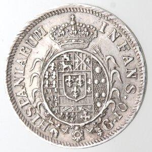 reverse: Napoli. Ferdinando I. 1816-1825. Carlino 1816. 5 Aggiustato a 6. Ag.