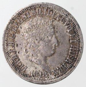 obverse: Napoli. Ferdinando I. 1816-1825. Carlino 1818. Ag.