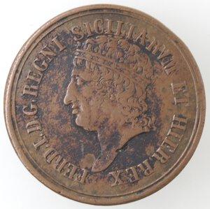 obverse: Napoli. Ferdinando I. 1816.1825. 8 Tornesi 1818. Ae.