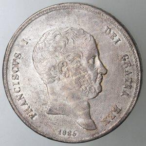 obverse: Napoli. Francesco I. 1825-1830. Piastra 1825. Ag.