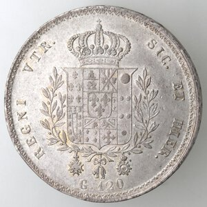 reverse: Napoli. Francesco I. 1825-1830. Piastra 1825. Ag.