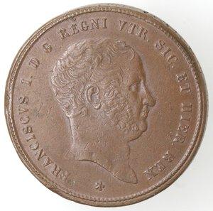 obverse: Napoli. Francesco I. 1825-1830. 10 Tornesi 1825. Ae.