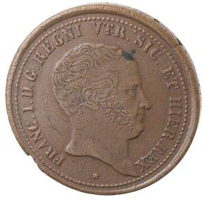 obverse: Napoli. Francesco I. 1825-1830. 5 Tornesi 1827. Ae.
