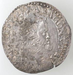 obverse: Napoli. Filippo II. 1556-1598. Mezzo Ducato. Ag.