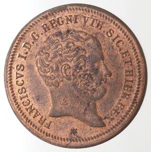 obverse: Napoli. Francesco I. 1825-1830. 2 Tornesi 1826. Ae.