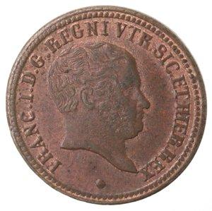 obverse: Napoli. Francesco I. 1825-1830. Tornese 1827. Ae.