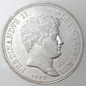 obverse: Napoli. Ferdinando II. 1830-1859.Piastra 1839. Ag.