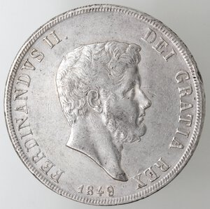 obverse: Napoli. Ferdinando II. 1830-1859.Piastra 1849. Ag.