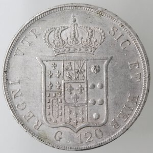 reverse: Napoli. Ferdinando II. 1830-1859.Piastra 1849. Ag.