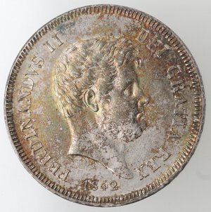 Napoli. Ferdinando II. 1830-1859. Mezza Piastra 1842. Ag.