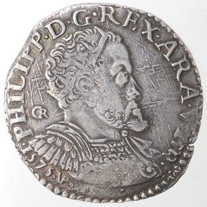 obverse: Napoli. Filippo II. 1554-1556. Mezzo Ducato. Ag.