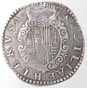 reverse: Napoli. Filippo II. 1554-1556. Mezzo Ducato. Ag.
