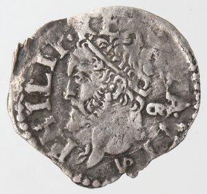 obverse: Napoli. Filippo II. 1554-1556. Grano. Ag.