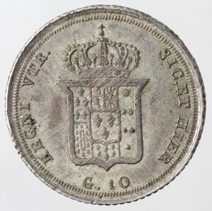 Napoli. Ferdinando II. 1830-1859. Carlino 1832. Ag.